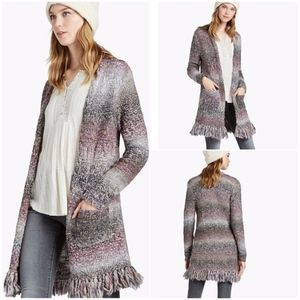 Lucky Brand Wool Open Front Cardigan Sweater Med